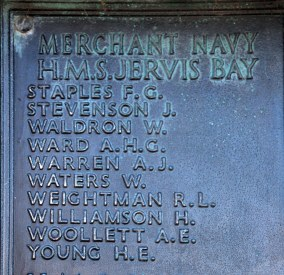 HMS Jervis Bay casualties (continued)