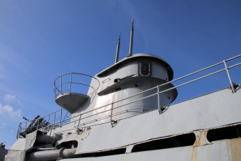 Conning tower, starboard side looking aft.