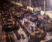 ...WW2 production line building Churchill tanks...