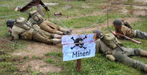 American Infantry on mine clearing exercise