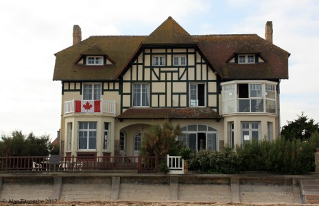 Then and Now - the first house to be liberated by seabourne forces - Juno Beach - 2006