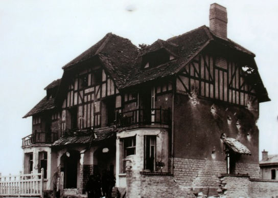 Then and Now - the first house to be liberated by seabourne forces - Juno Beach - 1944