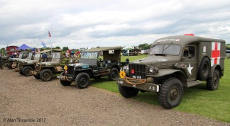 'Jeeps' and a Dodge Ambulance