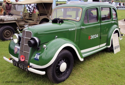 Hillman Minx Magnificent - side valve 10hp World war 2 RN staff car