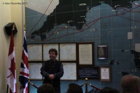 Curator of the Royal Military Police Museum - our speaker for the tour