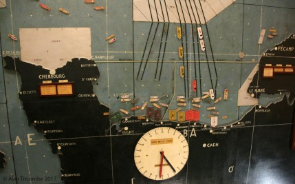 Detail of the D-Day map