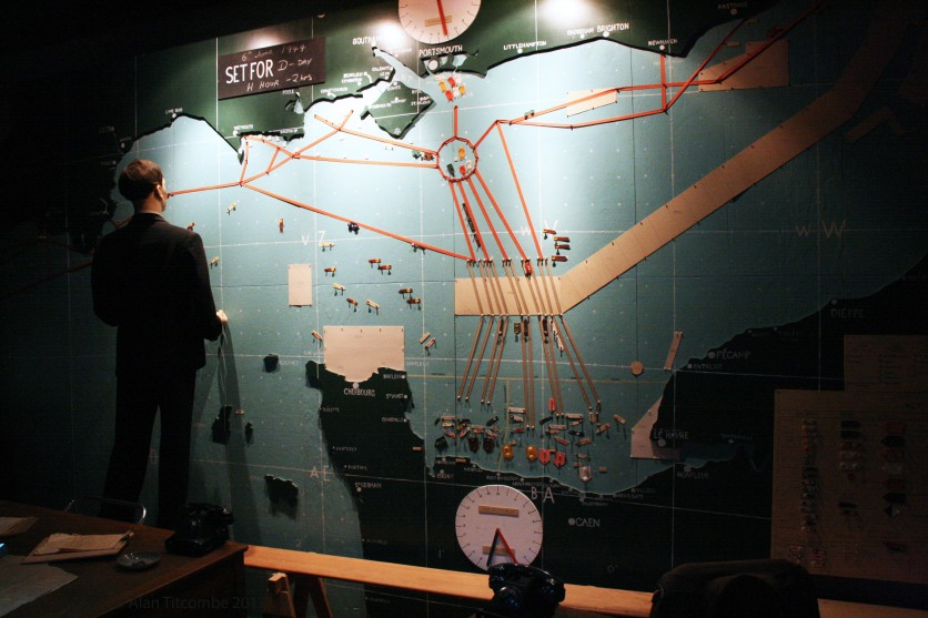 D-Day Naval map