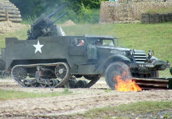 Knocked out American M16 Half-Track