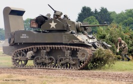 M5A1 Stuart stalked by a Panzerfaust