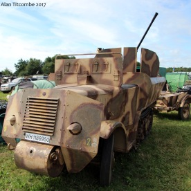 French P107 converted to Flak wagon