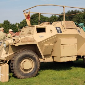 German WW2 - SdKfz armoured car reproduction (built on a Landrover chassis)