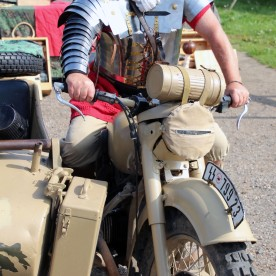 Time Warp - A Roman Legionary rides a WW2 German BMW MC
