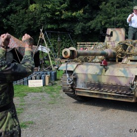 German WW2 - Parking a StuG III (reproduction built on a FV432 chassis)