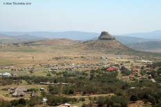 From roughly this position the Zulu commanders controlled the battle