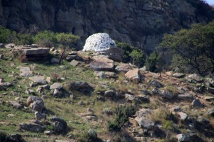 Large cairn showing where Lt Younghusband carried out the last organised resistance