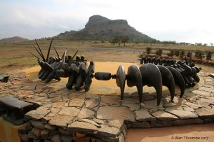 Memorial to the lost Zulu Warriors