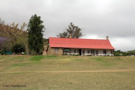 Visitor center - looking similar and built on the same location as the hospital building