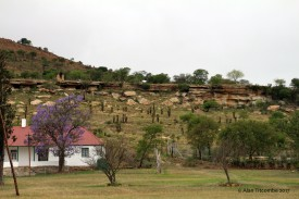 Shiyane ridge from where Zulu sharpshooters harried the defenders