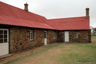 Back of the visitor center, looking very much lik ethe original hospital building