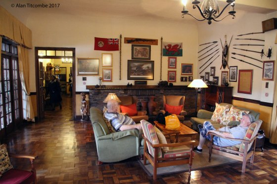 The lounge at the Royal County Inn - Tony & Eddie discuss the events of 1879