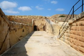 View over the fort toward the barrack room entrance