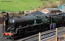 Bridgnorth Station with rebuilt Bulleid Sir keith Park