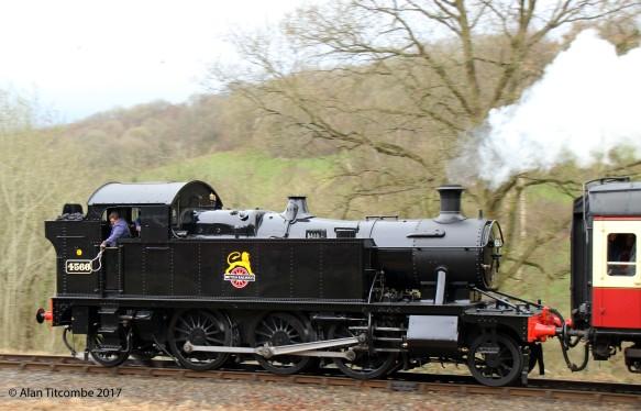 2-6-2T 45xx Class (small Prairie) no 4566 - Location 3