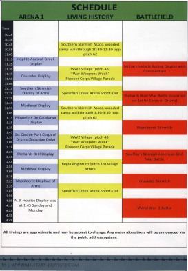 MO Schedule