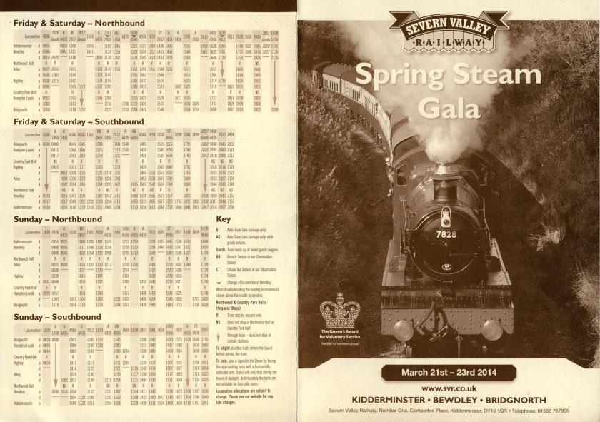 SVR Timetable