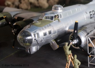 B-17G in 1/48th scale from the Monogram model kit