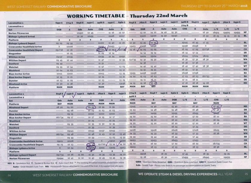 WSR 2018 Gala Timetable