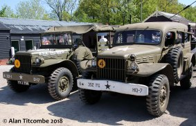 Dodge x 2 Weapons Carrier & Command Car