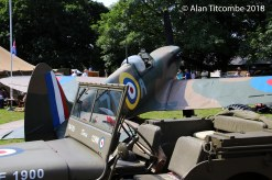 Jeep & Spitfire (replica)