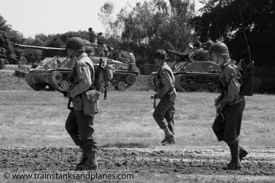 M4A2E8 & M4A3 Shermans with US infantry support