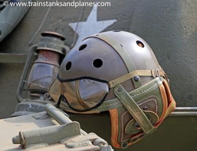 American tank crewman's helmet
