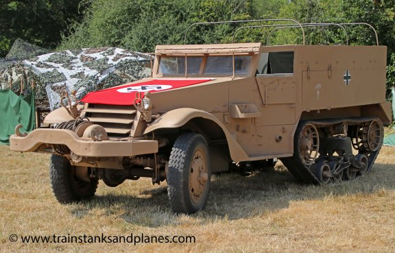 American White half-track - in movie German colours