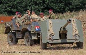 British 17pdr under tow