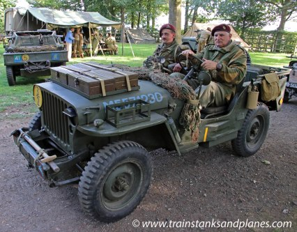 Jeep with British Paratroops - WW2
