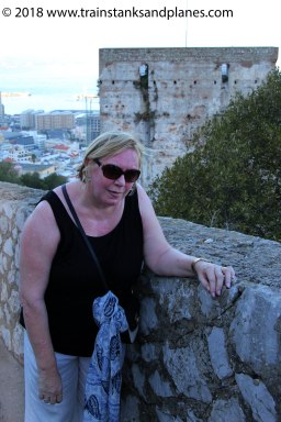Dee after climbing 365 stepsto the Moorish Castle