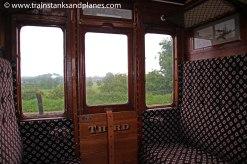 Inside the delightfully restored Celerstory Coach