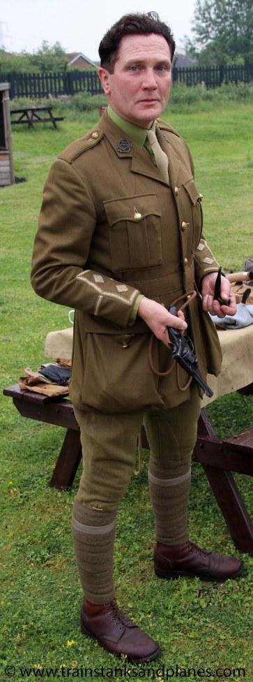 WWI re-enactor