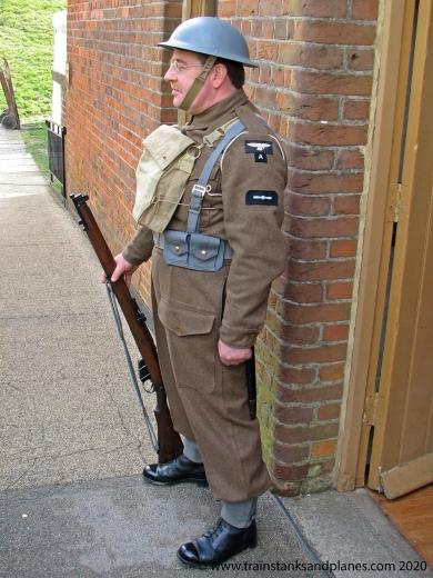 RAF LAC Auxiliary in Heavy dress Uniform - British