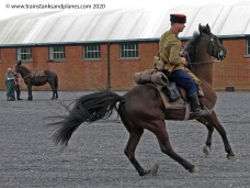Cavalry man - Russian WW2 with Cossack style hat and sabre